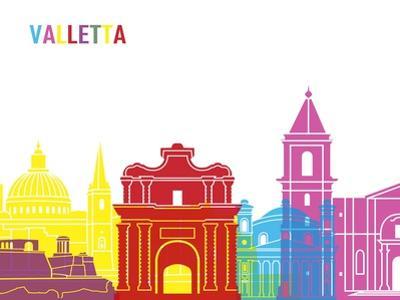 Valletta Skyline Pop by paulrommer