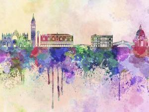 Venice Skyline in Watercolor Background by paulrommer