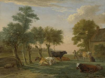 Cows in a Meadow Near a Farm, 1653