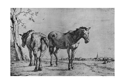 'The Two Plough Horses', 1652