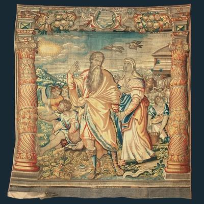 Tapestry Depicting the Descent from the Ark and the Series of the Life of Noah