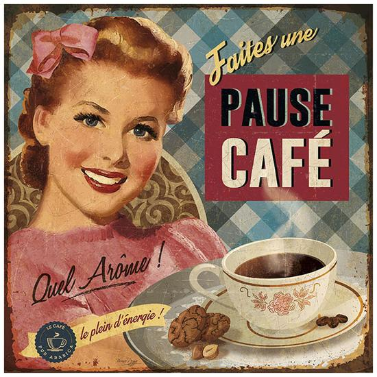 Pause café-Bruno Pozzo-Art Print