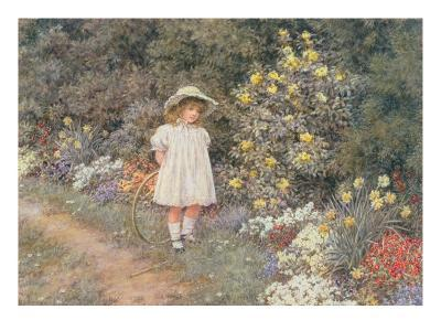 Pause for Reflection-Helen Allingham-Giclee Print