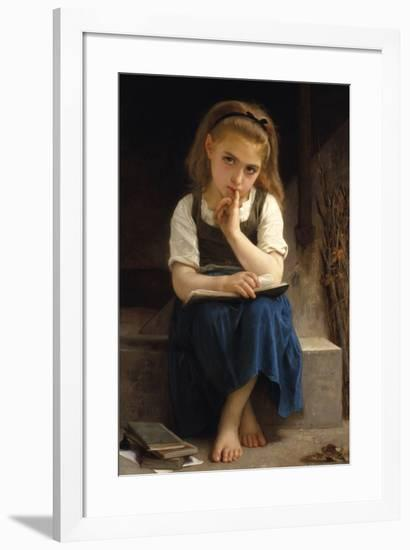 Pause for Thought-William Adolphe Bouguereau-Framed Giclee Print