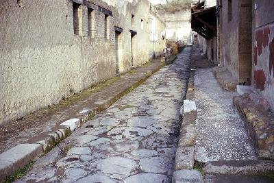 Paved Street in the Roman Town of Herculaneum, Italy-CM Dixon-Photographic Print