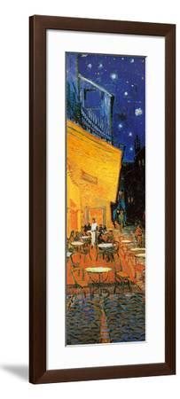 Pavement Cafe at Night Detail-Vincent van Gogh-Framed Art Print