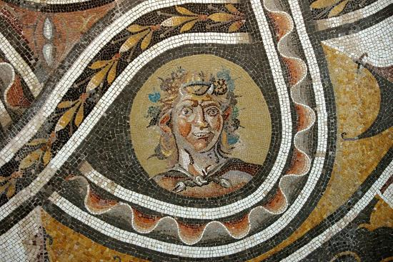 Pavement mosaic depicting the god Bacchus-Werner Forman-Giclee Print