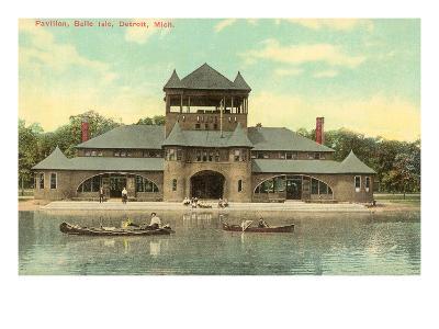 Pavilion, Belle Island, Detroit, Michigan--Art Print
