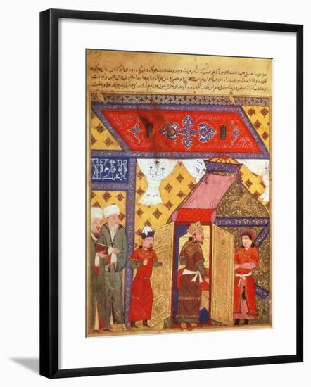 Pavilion Tents Erected by Ghazan Khan in 1302, from a Book by Rashid Ad-Din (1247-1318)--Framed Giclee Print