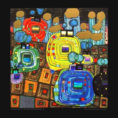 Pavilions and Bungalows for Natives and Foreigners-Friedensreich Hundertwasser-Art Print