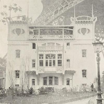 Pavillon Bleu Restaurant in Paris During Exposition Universelle, 1900, France--Giclee Print