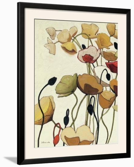 Pavots Ondule I-Shirley Novak-Framed Photographic Print