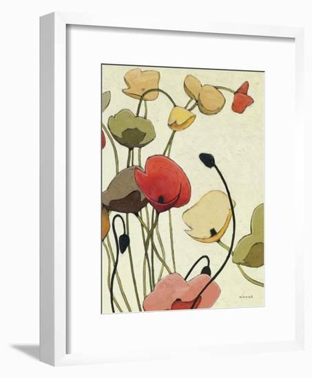 Pavots Ondule II-Shirley Novak-Framed Art Print