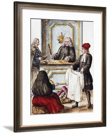 Pawn Shop from Illustrated Book of Venetian Costumes--Framed Giclee Print