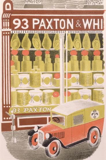 Paxton and Whitfield Cheesemongers, 1938-Eric Ravilious-Giclee Print
