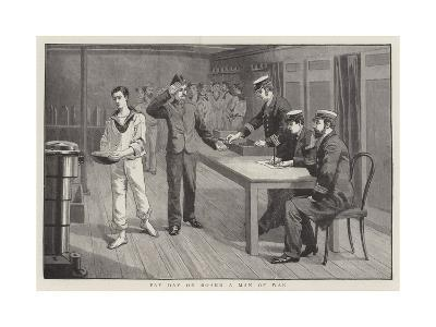 Pay Day on Board a Man of War--Giclee Print
