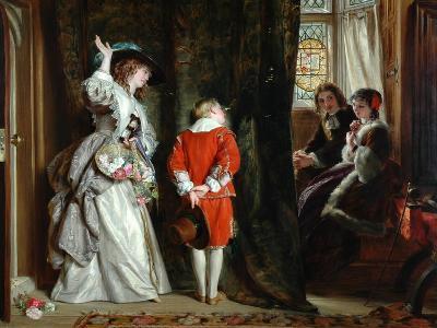 Pay for Peeping, 1872-John Callcott Horsley-Giclee Print