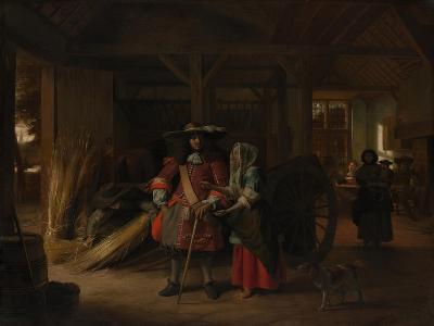 Paying the Hostess, c.1670-Pieter de Hooch-Giclee Print