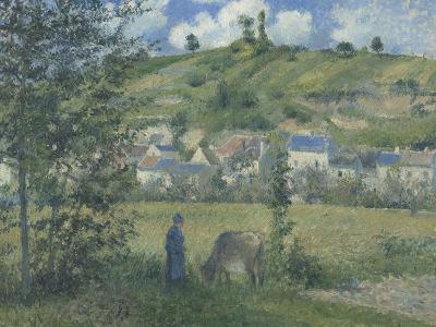 Paysage à Chaponval (Val d'Oise)-Camille Pissarro-Giclee Print