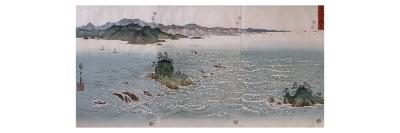 Paysage aux tourbillons d'Awa-Ando Hiroshige-Giclee Print