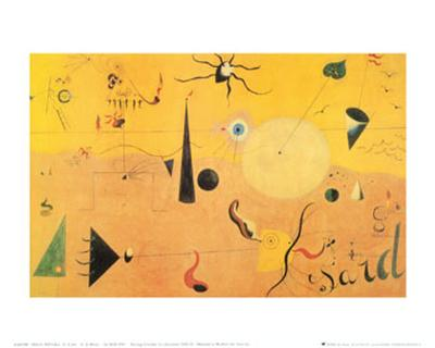 Paysage Catalan (Le Chasseur), c.1923-Joan Mir?-Art Print