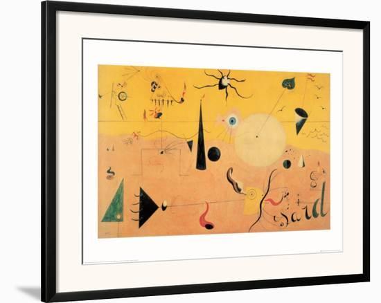Paysage Catalan (Le Chasseur), c.1923-Joan Miró-Framed Art Print