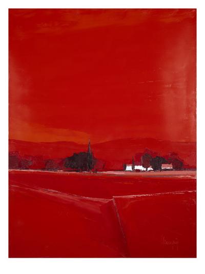 Paysage dans le Rouge-Demagny-Premium Giclee Print