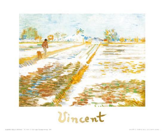 Paysage Enneige-Vincent van Gogh-Art Print