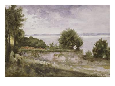 Paysage (Honfleur) ou Jardin de madame Aupick, mère de Baudelaire-Gustave Moreau-Giclee Print