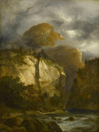 Paysage montagneux-Alexandre Calame-Giclee Print