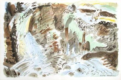 Paysage Surrealiste-Andr? Masson-Collectable Print