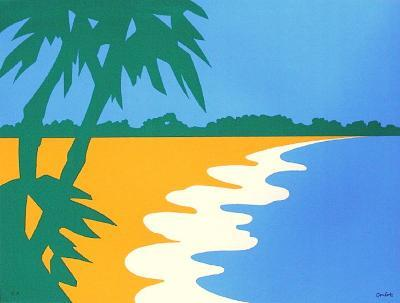 Paysage Tropical III-Jean Coulot-Serigraph
