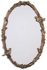 Paza Oval Vine Gold Mirror