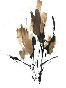 Sepia Florals 3 by PC Ngo