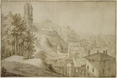 Pd.516-1963 View of Trinita Dei Monti, Rome, 1603-Willem van Nieulandt-Giclee Print