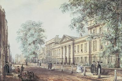 Pd.63-1958 Emmanuel College, Cambridge, Seen from St. Andrew's Street-Richard Bankes Harraden-Giclee Print