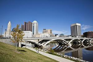 City of Columbus, Ohio with the New Rich Street Bridge in the Foreground. by pdb1