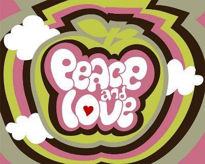 Peace and Love-Béatrice Patrat-canard-Art Print