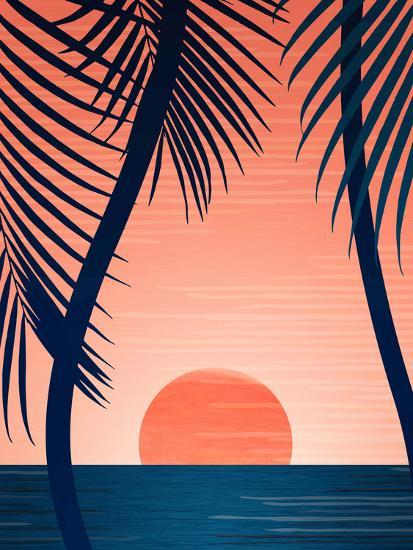 Peace And Palms-Modern Tropical-Art Print