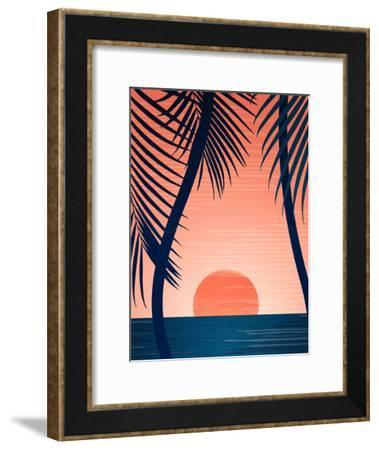 Peace And Palms-Modern Tropical-Framed Art Print
