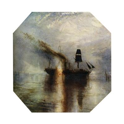 Peace, Burial at Sea of the Body of Sir David Wilkie, C1842-J^ M^ W^ Turner-Giclee Print