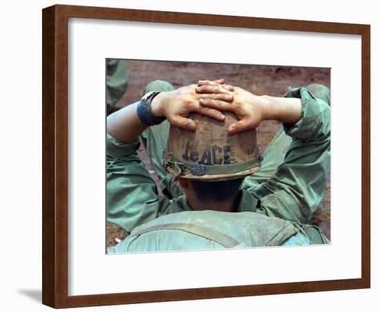 Peace Helmet-Associated Press-Framed Photographic Print