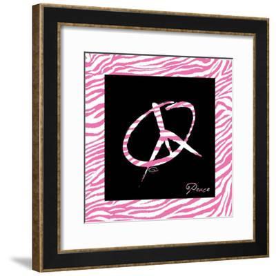Peace Hot Pink-OnRei-Framed Art Print