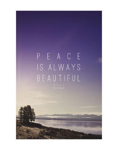 Peace Is Always Beautiful-Leah Flores-Art Print