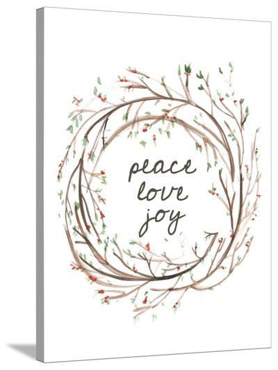 Peace Love Joy-Jetty Printables-Stretched Canvas Print