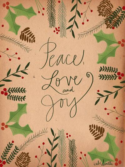Peace Love Joy-Katie Doucette-Art Print