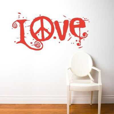 Peace & Love Wall Decal--Wall Decal