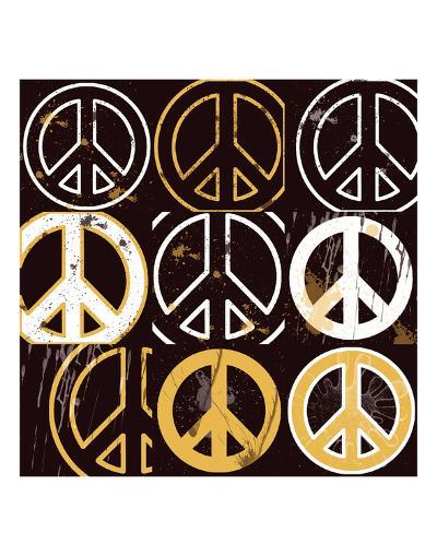 Peace Mantra (yellow)-Erin Clark-Art Print