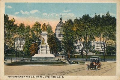 Peace Monument and U.S. Capitol, Washington, Dc, C1910--Giclee Print