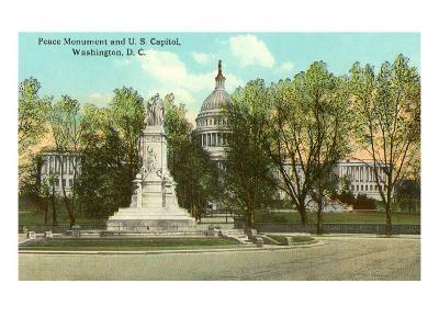 Peace Monument, Capitol, Washington D.C.--Art Print